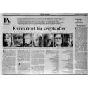 """""""Kvinnofront för krigets offer"""" DN Debatt 18 april 1993"""