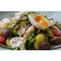Korshags recepttips: Vårsallad med varmrökt makrill & ansjovis