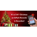 Get jolly when you park and save with  2 for 1 Q-Park Rewards!
