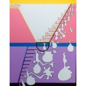 """Slide to Freedom!? An expressionist painting mirroring the ladder of """"success"""" in contemporary society. Or is it a slide?"""
