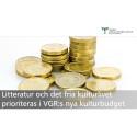 Litteratur och fria kulturlivet prioriteras i VGR:s nya kulturbudget
