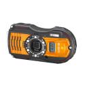Ricoh WG-5 GPS, orange snett framifrån