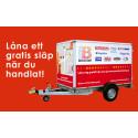 I Stora Bernstorp är det gratis att låna släpvagn
