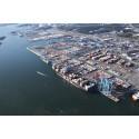 Historisk minskning av containertrafiken på grund av  långdragen hamnkonflikt