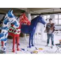 Utställning av konsthästar på Götaplatsen inför EM i ridsport