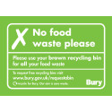 Grey bins are NOT for food waste – brown bins are!