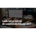 Redaktionell kalender-mall för 2017