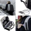 Prylar i säkert förvar med stöldskyddad ryggsäck!