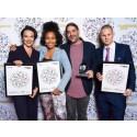 IMAN med IZ Publishing/Kobalt Music vinner pris i två kategorier på Musikförläggarnas pris 2016.