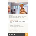 Screenshot iPhone: The create view where you write your story
