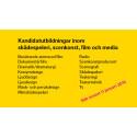 Utbildningar inom film- och media, scenkonst och skådespeleri att söka på StDH