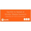 Spotify to speak at Nordic Media Summit in Copenhagen