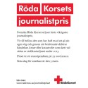 Röda Korsets utlyser årets viktigaste journalistpris