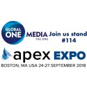 Full schedule ahead of APEX Expo Boston - 24 - 27 September 2018 for Global ONE Media team
