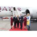 Qatar Airways premiärlandar på Göteborg Landvetter Airport