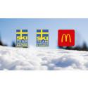 McDonald's och Svenska Skidförbundet förlänger samarbetsavtalet till 2020