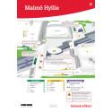 Flyttade busshållplatser på Hyllie station