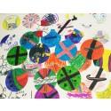 Teckningar på Invercote-ark från spontanfotbollen med HuFF