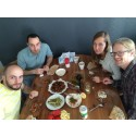 Basil, Amer, Jessica och Martin