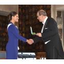 Gullmedalje for entreprenørskap til Erik Sellberg