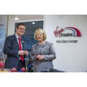 Hearts boss opens Virgin Trains' First Class Lounge in Edinburgh