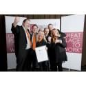 """Itema - Norges beste arbeidsplass i kategorien """"Små virksomheter"""""""
