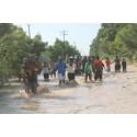 Stor förödelse efter orkanen Sandys framfart i Haiti