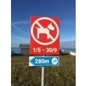 Nya skyltar ska förtydliga hundbad