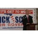 Rick Scott during public forum in Winter Haven, Florida
