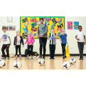 Experts examine footballers' impact on school children's fitness