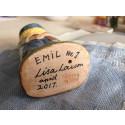 Det första exemplaret av Emil i Lönneberga, signerad av Lisa Larson