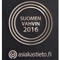 Suomen Vahvin yritys 2016 on kirjakauppa Verena Oy