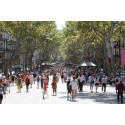 Las Ramblas i Barcelona, Catalonien