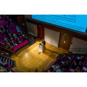 Hi-res image - OINA - Gwyn Griffiths addresses the Catch the Next Wave audience