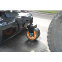Stort, pivoterande stödhjul