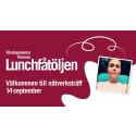 Sara Fritzon gäst i Lunchfåtöljen på Munktell Science Park