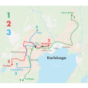 Linjekarta för stadsbussarna i Karlskoga