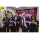Local MP Mike Gapes cuts ribbon to officially open new Vision Express optical store at Tesco in Goodmayes