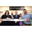 Hartlepool MP Mike Hill joins Vision Express to celebrate the opening of its new optical store at Tesco