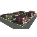 Botkyrkabyggen har börjat bygga 72 lägenheter i Rikstens friluftsstad