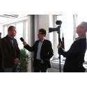 VD Mats Fägerhag intervjuas av TTELA TV.