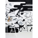 Wall mural collection with graffiti designs