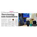 """Artikel i  Värmlands Folkblad 2018-02-16 om utställningen """"Sultans of Salvage"""""""