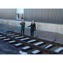 Symbolisk rälsläggning startskottet för ny järnväg till hamnen