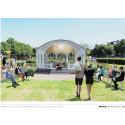 Skiss från Mono arkitekter AB med förslag på musikpaviljongens nya placering.