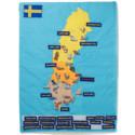 """Bli """"Smartare än en fjärdeklassare"""" med Oskar & Ellens karta över Sverige – nu på ABC Leksaker"""