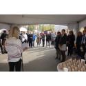 Kari Asheim i Zero holder innlegg under lanseringen av etanoldiesel RED95 på Shell Grorud, fredag 7.september.