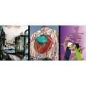 Collage av tävlande konstverk i Gothenburg Art 21