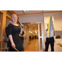 Äldreborgarrådet Clara Lindblom invigde nytt trygghetsboende