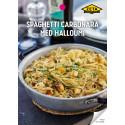 Receptblad spaghetti carbonara med halloumi